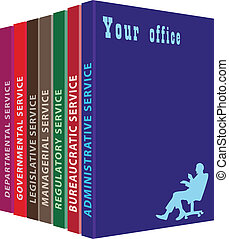 Your office - A selection of books for your office. Vector...