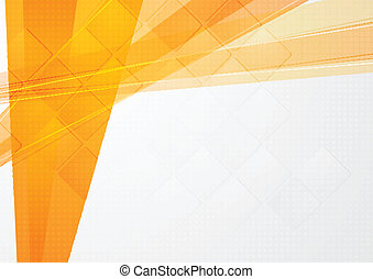 Abstract orange technical backdrop. Vector design