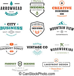 Business sign graphics - Set of business sign graphics and...