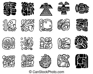 Maya patterns made on the basis of reliefs and sculptures...