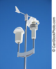 Weather station - Automatic weather station against blue sky
