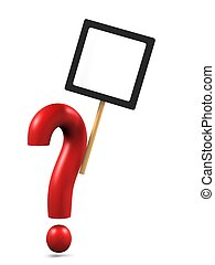 question mark with copy space