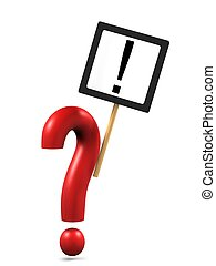 Question mark with exclamation sign