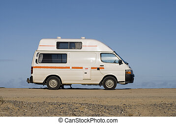 camper van at australian beach