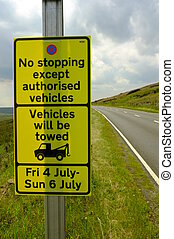 Tour de france road warnig sign - YORKSHIRE Tour de France...