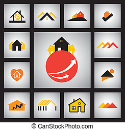 house, home, real estate and construction industry vector...