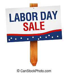 Labor Day Sale sign isolated on white background - Labor Day...