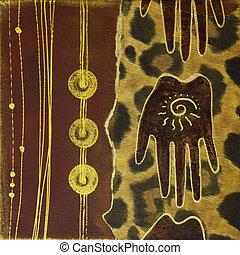 handmade artwork africa - artwork ethnic style, artwork is...