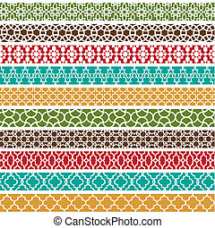 Moroccan Border Pattterns - A collection of 10 different...