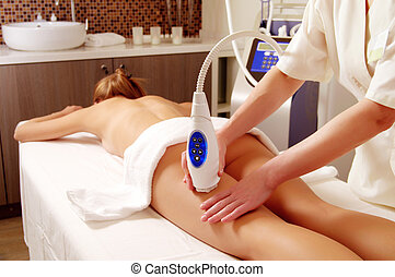 professional back massage at spa salon special