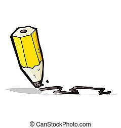 cartoon drawing pencil