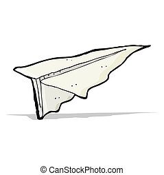 cartoon paper aeroplane