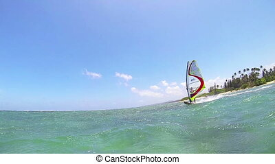 Windsurfing - Maui, Hawaii, USA – June 15 2014:...