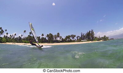 Windsurfing - Maui, Hawaii, USA u2013 June 15 2014:...