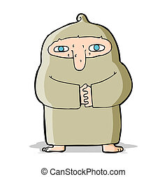 cartoon monk in robe