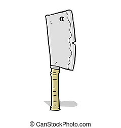 cartoon meat cleaver
