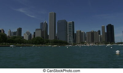 Chicago skyline seen from the lake - Chicago skyline seen...