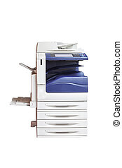 multifunction laser printer, scanner, xerox, isolated on...