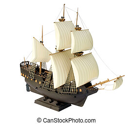 Brig\'\'Eagle\'\' - isolated, transport, subject, object,...