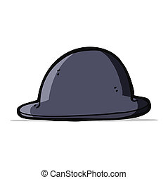 cartoon old bowler hat