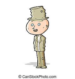 cartoon funny hobo man