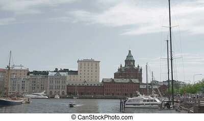 The view of the port in Finland - The view of the harbour...
