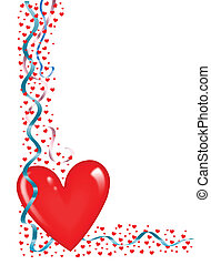 heart with streamers
