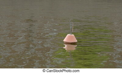 A buoy floating in the sea