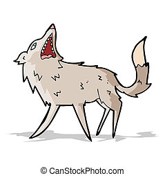 cartoon snapping wolf