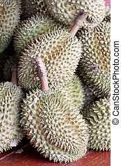 The durian fruit - The durian fruit for the background