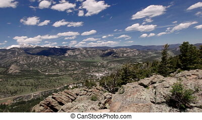 Panoramic view of Rocky mountains, Colorado, USA - Panoramic...