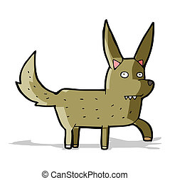 cartoon wild dog