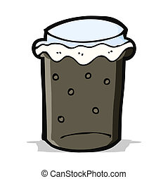 cartoon glass of stout beer