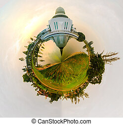 Polar Panorama An-Nur - Polar Panorama of An-Nur Mosque, UTP