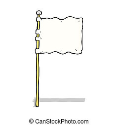 cartoon waving flag