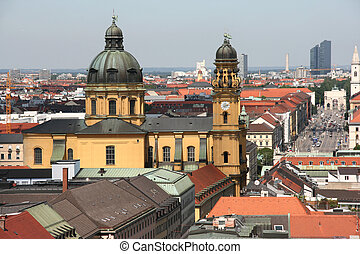 Munich cityscape - Cityscape of Munich, Bavaria, Germany...
