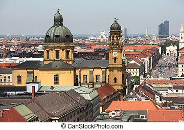 Munich cityscape - Cityscape of Munich, Bavaria, Germany....