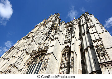 Belgium - Cathedral of Our Lady in Antwerp, Belgium...