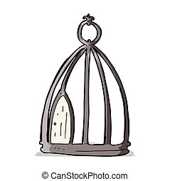 cartoon bird cage