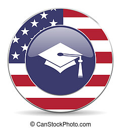 education american icon - web glossy icon
