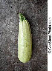 Organic Zuchini :Fresh picked natural vegetable, from above