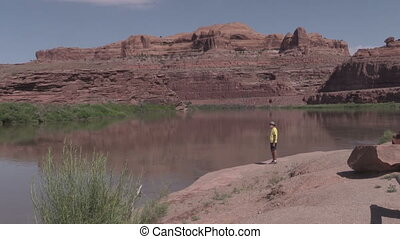 Tourist Along Colorado River