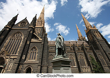 Melbourne cathedral - St. Patrick\'s Cathedral in Melbourne,...