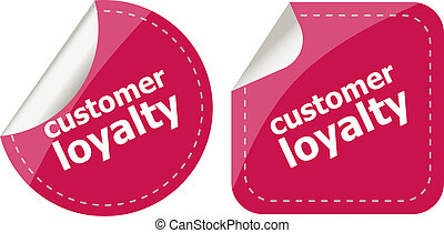 customer loyalty stickers set on white, icon button isolated...
