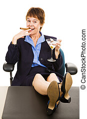 Successful Business Woman Relaxed - Successful business...