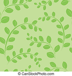 green seamless pattern with plants
