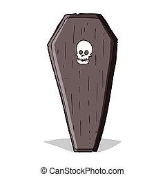 spooky cartoon coffin