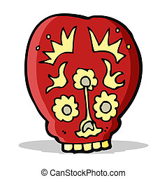 cartoon sugar skull
