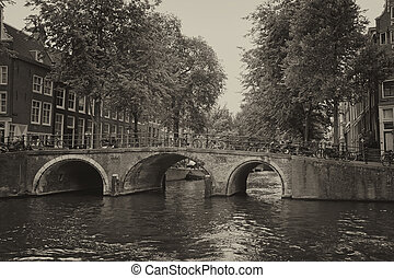 Vintage photo of Amsterdam (Netherlands)