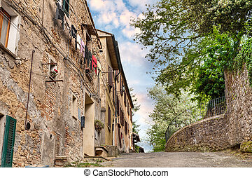 picturesque suburbs of Volterra, Tuscany, Italy